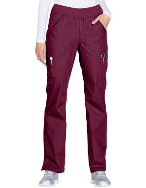 Picture of CHEROKEE-CH-WW210P-Cherokee Workwear Women's Mid Rise Straight Leg Pull-on Cargo Petite Pant