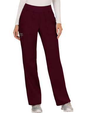 Picture of CHEROKEE-CH-WW110-Cherokee Workwear WW Revolution Womens Mid Rise Straight Leg Pull-on Pant