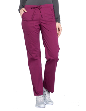 Picture of CHEROKEE-CH-WW160T-Cherokee Workwear Professionals Women's Drawstring Mid Rise Straight Leg Tall Pant