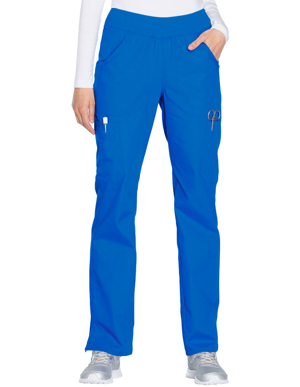 Picture of CHEROKEE-CH-WW210T-Cherokee Workwear Women's Mid Rise Straight Leg Pull-on Cargo Tall Pant