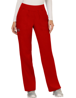Picture of CHEROKEE-CH-WW110T-Cherokee Workwear Revolution Womens Mid Rise Straight Leg Pull-on Tall Pant