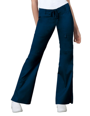 Picture of CHEROKEE-CH-21100T-Cherokee Luxe Women's Low Rise Flare Leg Drawstring Tall Cargo Pant