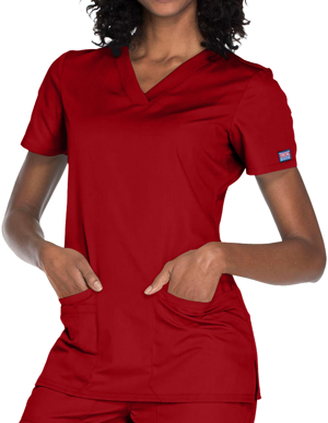 Picture of CHEROKEE- CH-WW645-Cherokee Workwear Women's Contemporary Fit V-neck Top