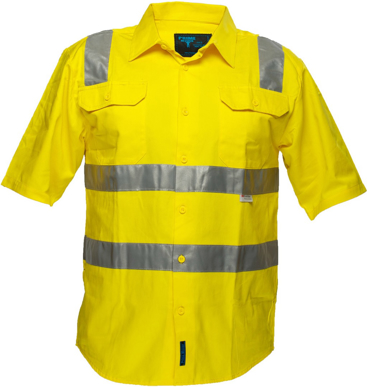 Picture of Prime Mover-MS192-Hi Vis Cotton Drill Shirt