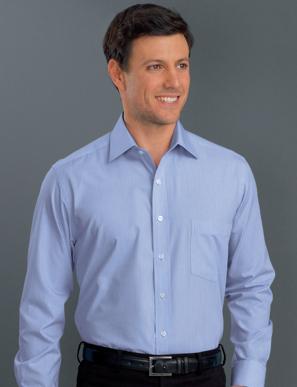 Picture of John Kevin Uniforms-436 Blue-Mens Long Sleeve Soft Stripe