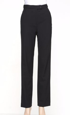 Picture of LSJ collection-189K-MG-Ladies Straight leg flex waist pants with pockets & keyloop