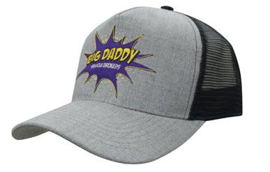 Picture of Headwear Stockist-3821-5Pnl Grey Marle W/Mesh Back